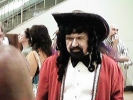 Charles Sheffield in pirate garb after the Hugo...