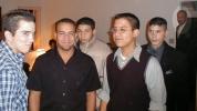Cousins. Somebody in blue plaid, Mikey Ferrer, Ricky Ferrer, Alex Ortega, Carlos Lora, Juan Jimenez at the right. (Dec-1999)