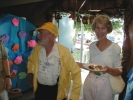 Mr. Jacober and Karen Millar in white. (15-Jun-2001)