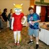 Fantastic Minerva Mink costume as 'Virtual Vikki'...