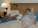 Next: Randy McCharles in a white shirt, and Linda Ross-Mansfield, in the Calgary in 2005 Westercon bid party.