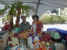 Paradise Restaurant: Won Ton Salad and Chicken Satay. Harvey Kano, Veronica Pobekollmeyer. (21-Apr-2002)