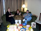 Next: Lynn Baden, Emily Christensen, and Lee Whiteside on the couch.