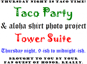 Taco party sign