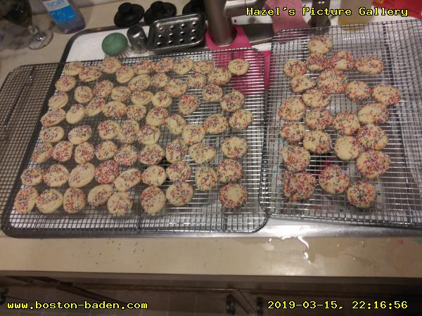 Amish sugar cookies, with colored sugar.