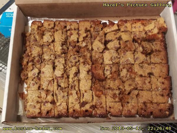 Marina's Good AF Bars (almond flour/almond meal, butterscotch, hazelnuts).
